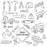 Constructions Sings and Tools Stock Photos