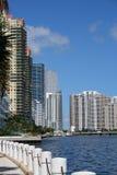 Constructions sur le compartiment de Biscayne Photo libre de droits