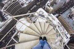 Constructions sur le gratte-ciel Photographie stock libre de droits