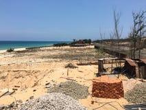Constructions une nouvelle station de vacances en île de Phu Quoc Image libre de droits