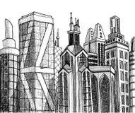 Constructions urbaines illustration libre de droits