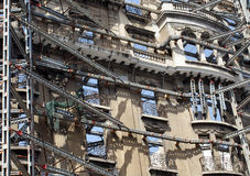 Constructions work in Barcelona Royalty Free Stock Photos