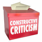 Constructive Criticism Suggestion Box Helpful Feedback 3d Illustration vector illustration