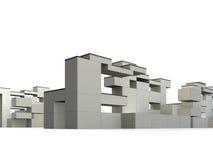 Constructivism & Minimalism. 3d rendered exterior, minimalism and constructivism style building Stock Photos