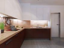 Constructivism style kitchen Royalty Free Stock Photos