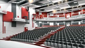 Constructivist theater. Theatre interior, russian avant-garde style Royalty Free Stock Images