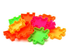 Constructor. Heap of bright colorful constructor details for children Royalty Free Stock Images