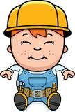 Constructor Child Sitting Foto de archivo libre de regalías
