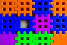 Constructor coloreado del niño Fotos de archivo libres de regalías
