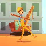 Constructor And Construction Illustration Imagen de archivo libre de regalías