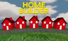 Constructor Construction New Houses Imagen de archivo libre de regalías