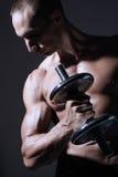 Constructor de carrocería muscular atractivo Fotografía de archivo libre de regalías