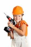 Constructor de la muchacha Fotografía de archivo