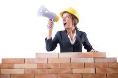 Constructor de la mujer Foto de archivo libre de regalías