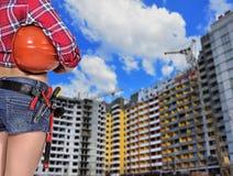 Constructor de la mujer Fotografía de archivo