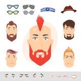 Constructor de las emociones de la cara del hombre Imagen de archivo libre de regalías