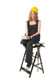 Constructor de sexo femenino Foto de archivo libre de regalías