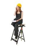 Constructor de sexo femenino Fotografía de archivo libre de regalías
