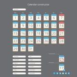 Constructor del calendario stock de ilustración