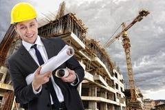 Constructor del ingeniero con el modelo fotos de archivo libres de regalías