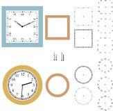 Constructor del reloj del vector Imagenes de archivo