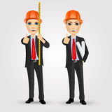 Constructor del trabajador del ingeniero de construcción Imagenes de archivo