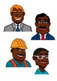 Constructor, doctor y hombres de negocios de la historieta Imagen de archivo libre de regalías