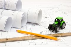 Constructor drawings Stock Photos