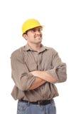 Constructor emocionado Foto de archivo libre de regalías