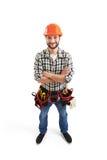 Constructor en casco imagen de archivo libre de regalías