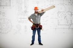 Constructor en uniforme imagenes de archivo