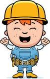 Constructor Excited del niño ilustración del vector