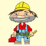 Constructor feliz Imagen de archivo libre de regalías