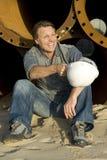Constructor feliz Fotografía de archivo libre de regalías