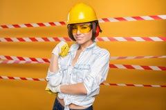 Constructor Girl Fotos de archivo libres de regalías