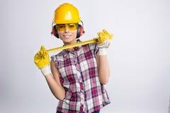 Constructor Girl Fotografía de archivo