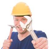 Constructor impaciente fotografía de archivo
