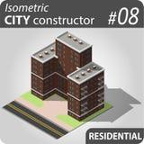 Constructor isométrico de la ciudad - 08 Fotografía de archivo