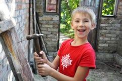 Constructor joven Fotos de archivo libres de regalías