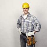 Constructor joven sonriente Imágenes de archivo libres de regalías
