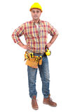 Constructor. Man isolated in white Stock Photos