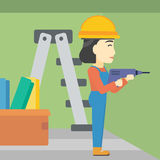 Constructor with perforator. Vector Illustration