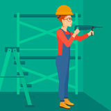 Constructor with perforator. Royalty Free Stock Photography