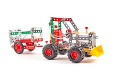 Free Constructor Toy Metal On White Royalty Free Stock Images - 116570909
