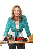 Constructor woman Royalty Free Stock Photography