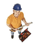 Constructor worker and tools Stock Images