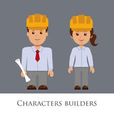Constructores de los caracteres Imagenes de archivo