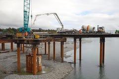 Constructores de puente imagen de archivo
