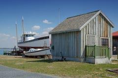 Constructores del barco de la bahía de Chesapeake Fotografía de archivo libre de regalías