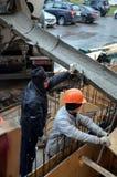 Constructores en el trabajo Foto de archivo libre de regalías